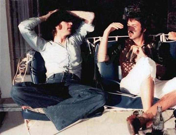 John Lennon and Paul McCartney, March 29, 1974