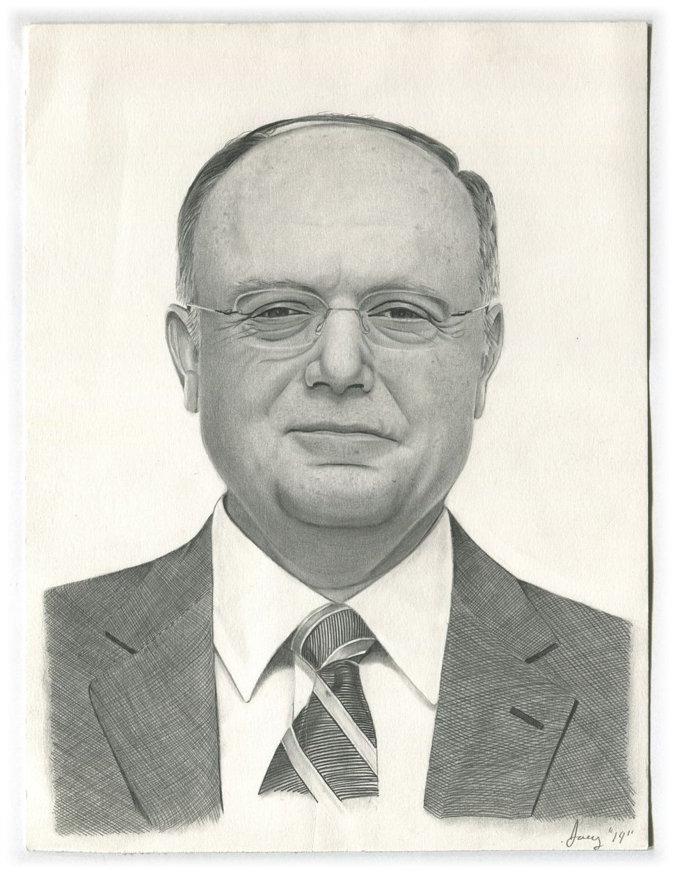 Joseph Sharrow (Prison ID#D-3-102) drewCEO of PfizerIan Read. Read is accused ofAIDS profiteering, br