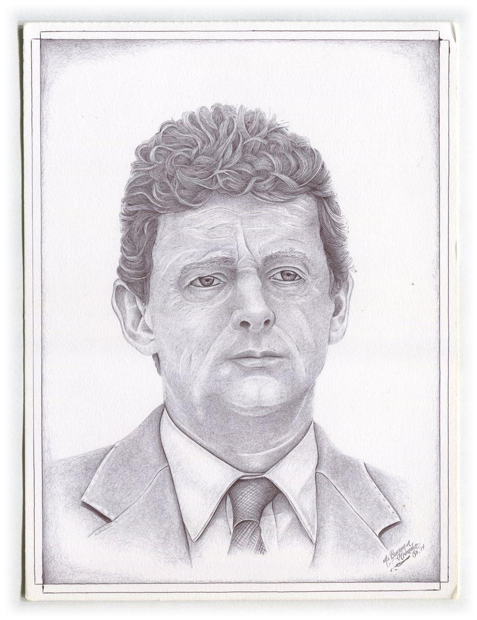 Benjamin Gonzalez Sr. (Prison ID#17554404) drew former CEO of BP TonyHayward. Hayward is accused of environmental