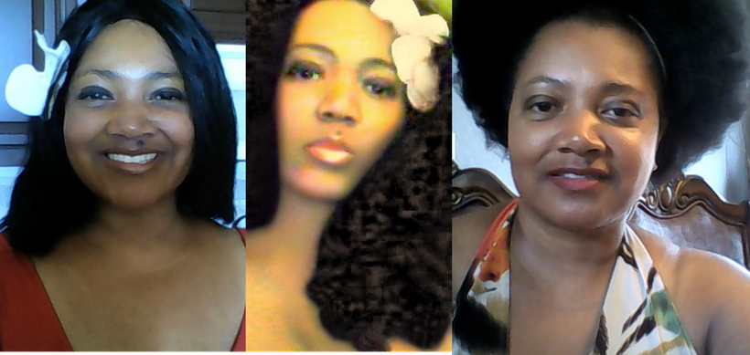 Wigs and natural afro.