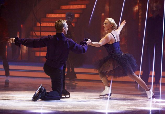 Jayne Torvill performs on 'Dancing On