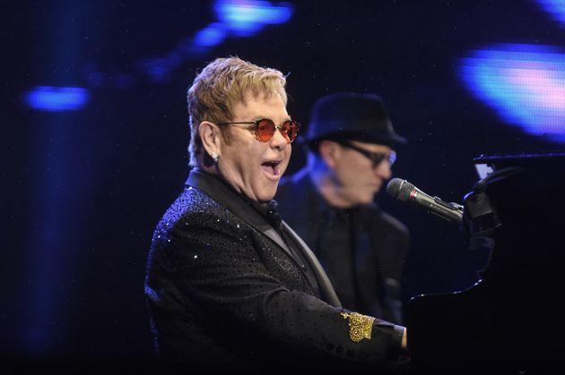 Elton John performing in Brazil earlier this