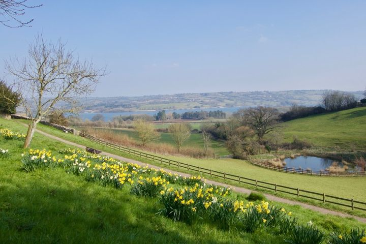 <em>The path leading to Grandma's house in Blagdon, England.</em>