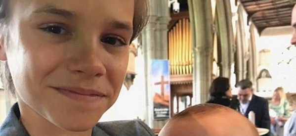 Romeo Beckham Posts Adorable Instagram Photo As He Becomes A Godfather