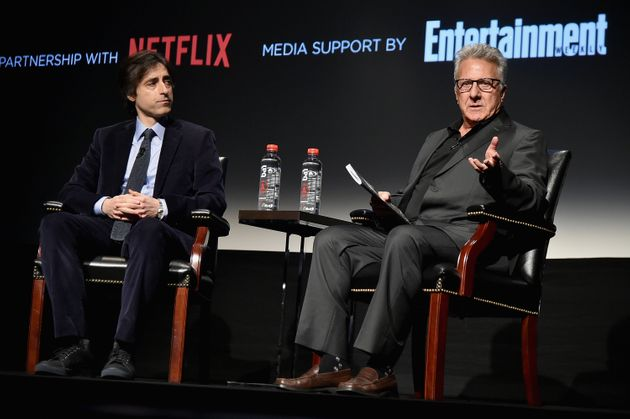 Noah Baumbach and Dustin Hoffman at the Tribeca Film