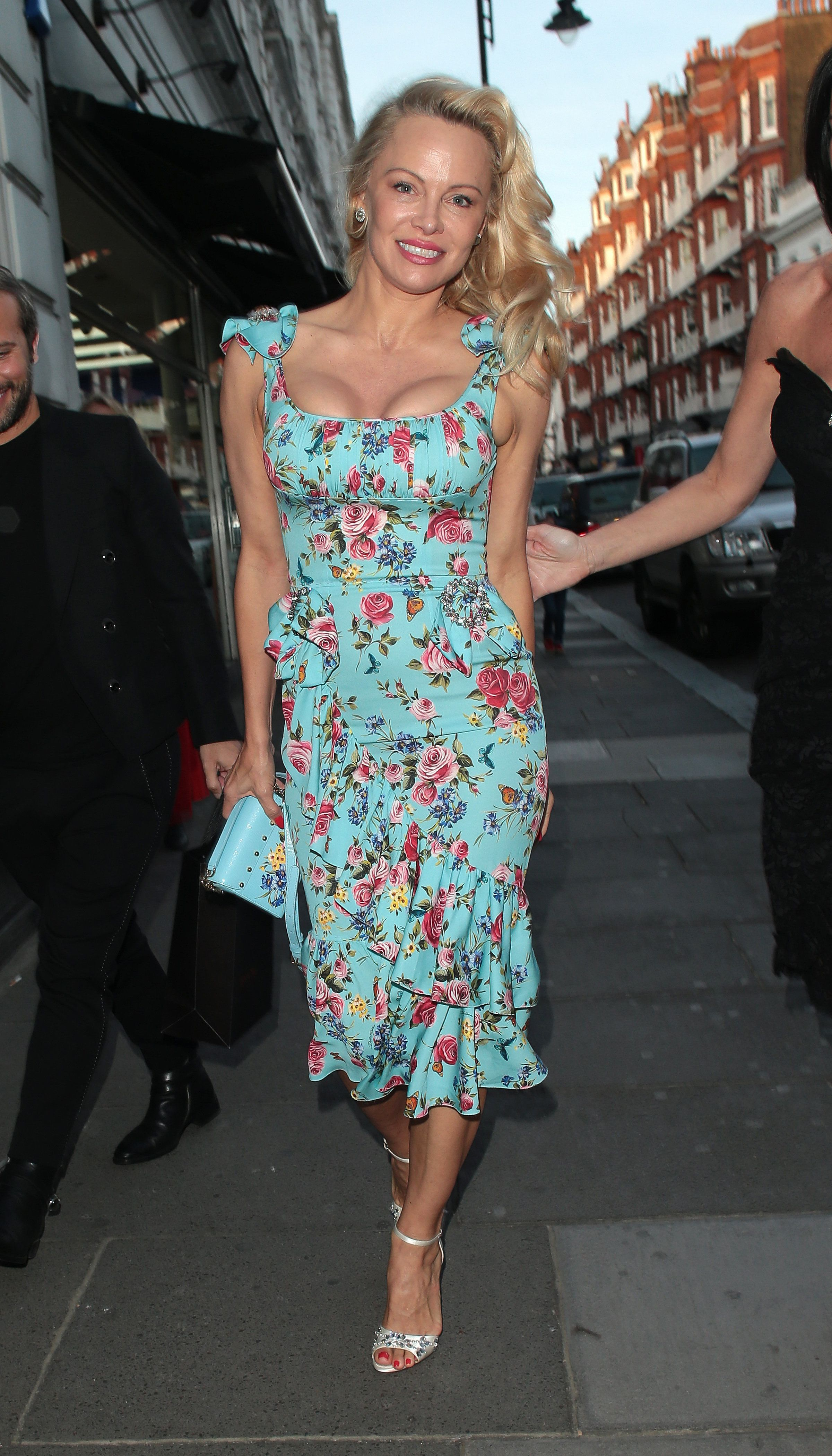 Pamela Anderson attends a party at Albert's on April 3 in London, England.