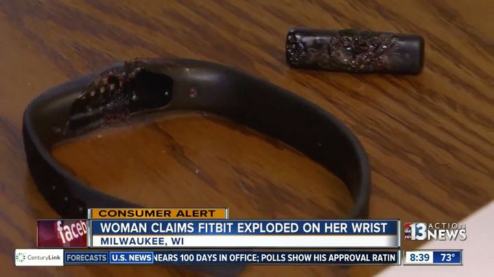 Mitchell said her Flex 2 device exploded on her wrist.