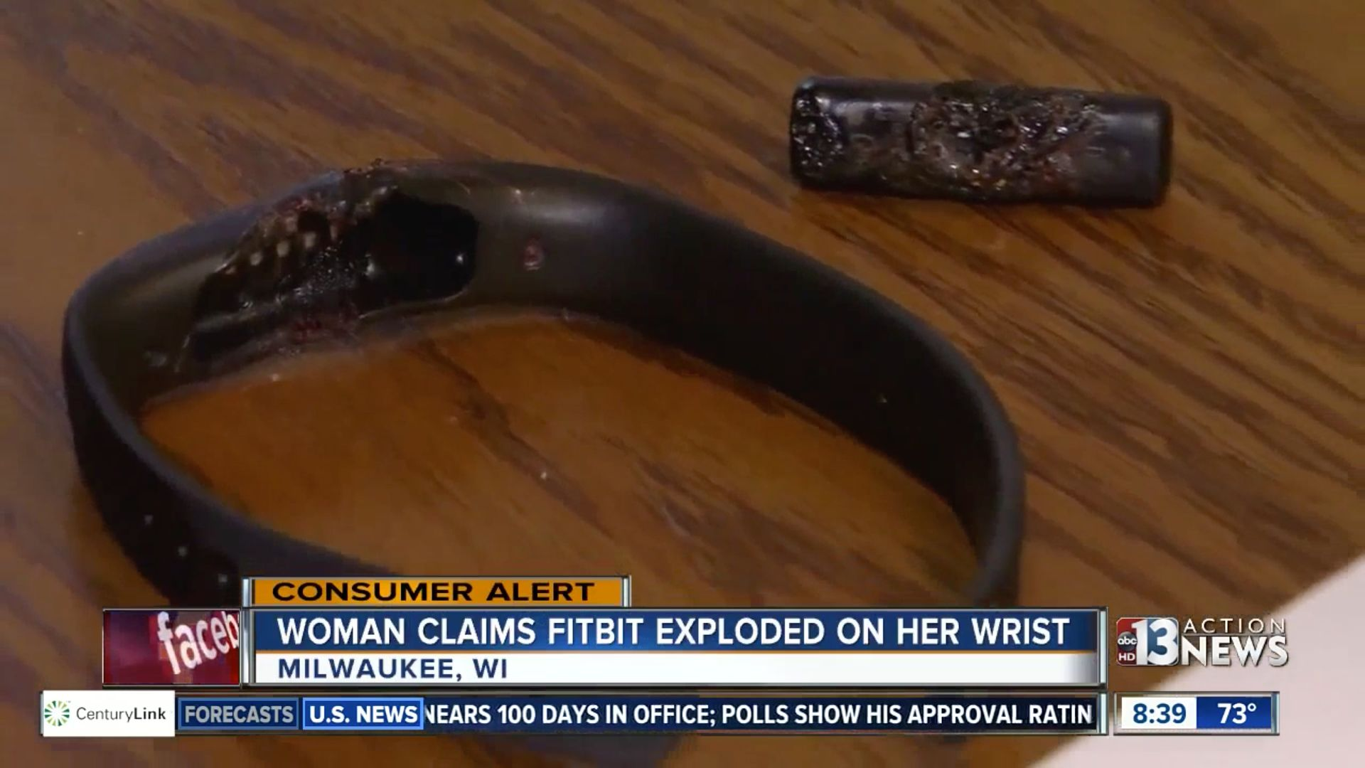 Mitchell said her Flex 2 device exploded on her wrist last week