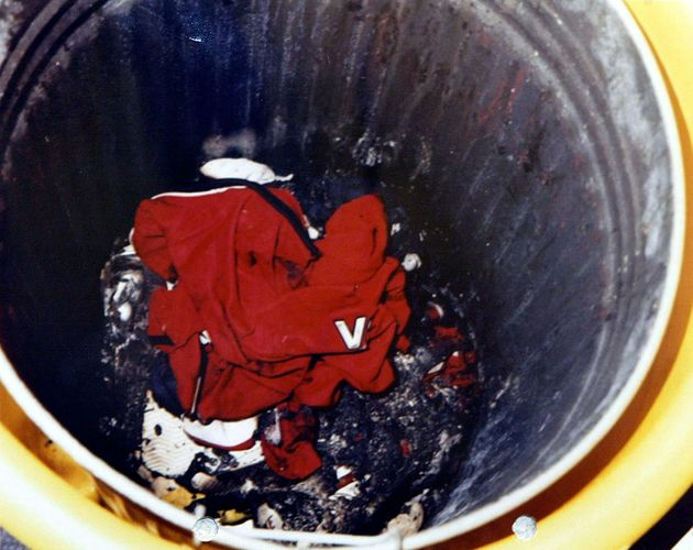 Holly and Jessica's Manchester United football shirts were found burned in a bin at Soham College, where...