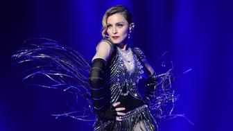 MONTREAL, QC - SEPTEMBER 09:  (Exclusive Coverage) Madonna performs onstage during her 'Rebel Heart' tour opener at Bell Centre on September 9, 2015 in Montreal, Canada.  (Photo by Kevin Mazur/Getty Images for Live Nation)