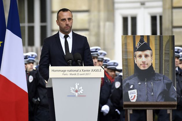 Etienne Cardiles, the partner of Xavier Jugele, the policeman killed by a jihadist in an attack on the...