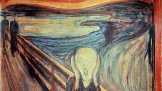 Edvard Munch (1863-1944), Norvegian School. The Scream. 1893. Tempera and pencil on cardboard, 0.91 x 0.73 m. Oslo, Nasjonalmuseet. (Photo by: Christophel Fine Art/UIG via Getty Images)