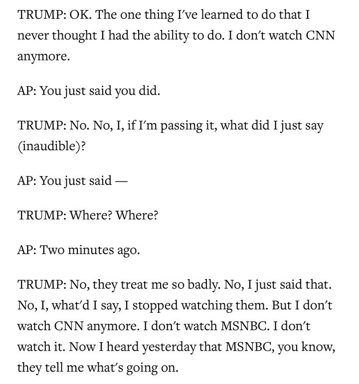 An excerpt from an interview with the president and AP White House Correspondent Julie Pace. Many have interpreted this excha
