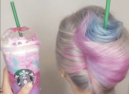 Behold! The Unicorn Frappucino Is Now A Hairstyle