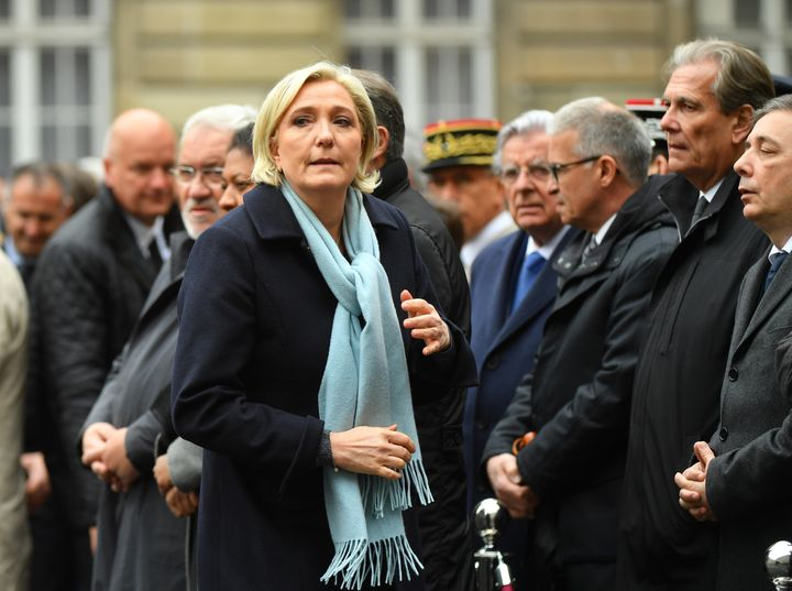 Marine Le Pen at thefuneral