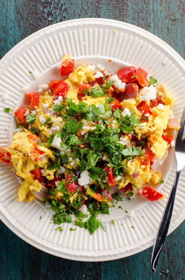 "<strong>Get the <a href=""https://umamigirl.com/peppers-onions-scrambled-eggs/"" target=""_blank"">Peppers And Onions Scrambled E"