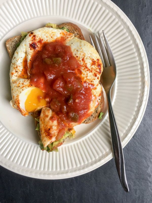"""<strong>Get the <a href=""""https://umamigirl.com/avocado-toast-fried-eggs/"""" target=""""_blank"""">Avocado Toast Fried Egg recipe</a>&"""