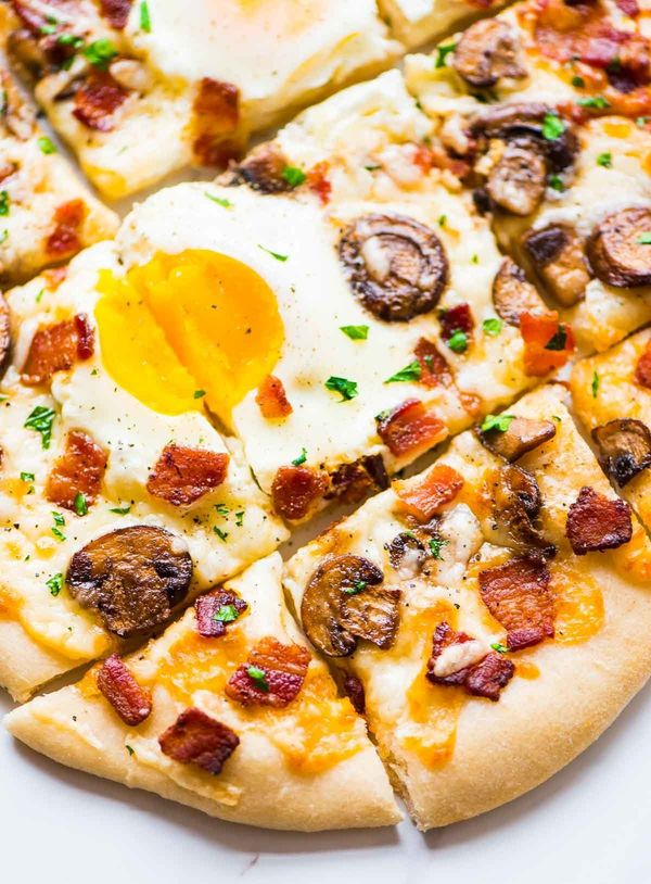 "<strong>Get the <a href=""http://www.wellplated.com/carbonara-pizza/"" target=""_blank"">Carbonara Pizza recipe</a> from&nbs"