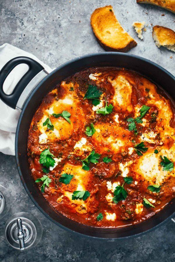 "<strong>Get the <a href=""http://pinchofyum.com/one-pot-spicy-eggs-and-potatoes"" target=""_blank"">One-Pot Spicy Eggs And Potato"