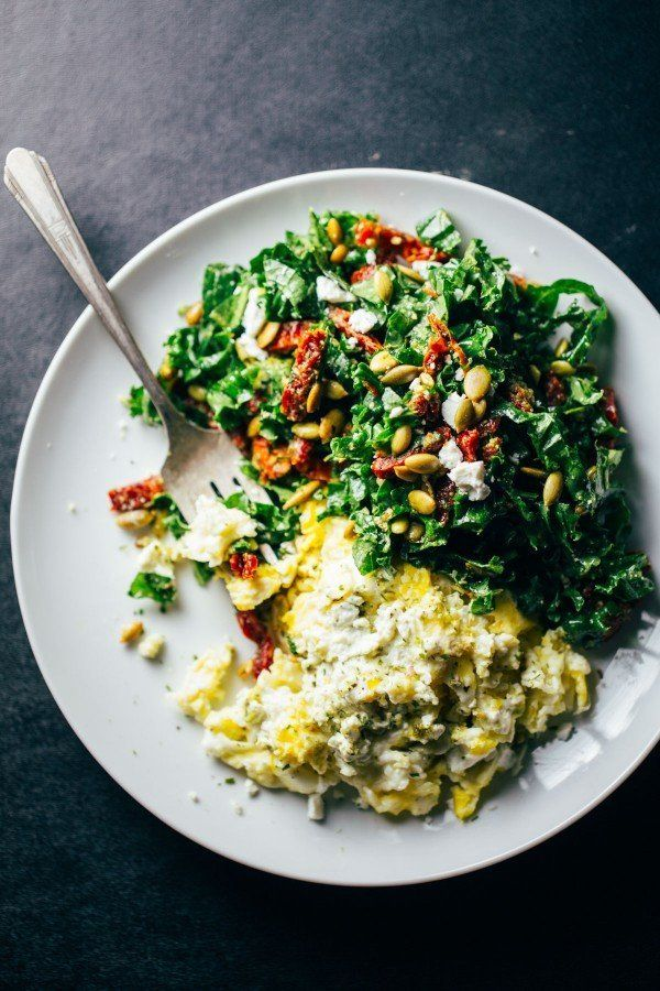 "<strong>Get the <a href=""http://pinchofyum.com/goat-cheese-scrambled-eggs-pesto-veggies"" target=""_blank"">Goat Cheese Scramble"