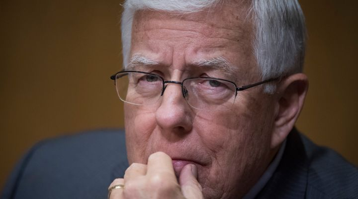 Sen. Mike Enzi (R-Wyo.) kicked up controversy when he spoke at Greybull High School.
