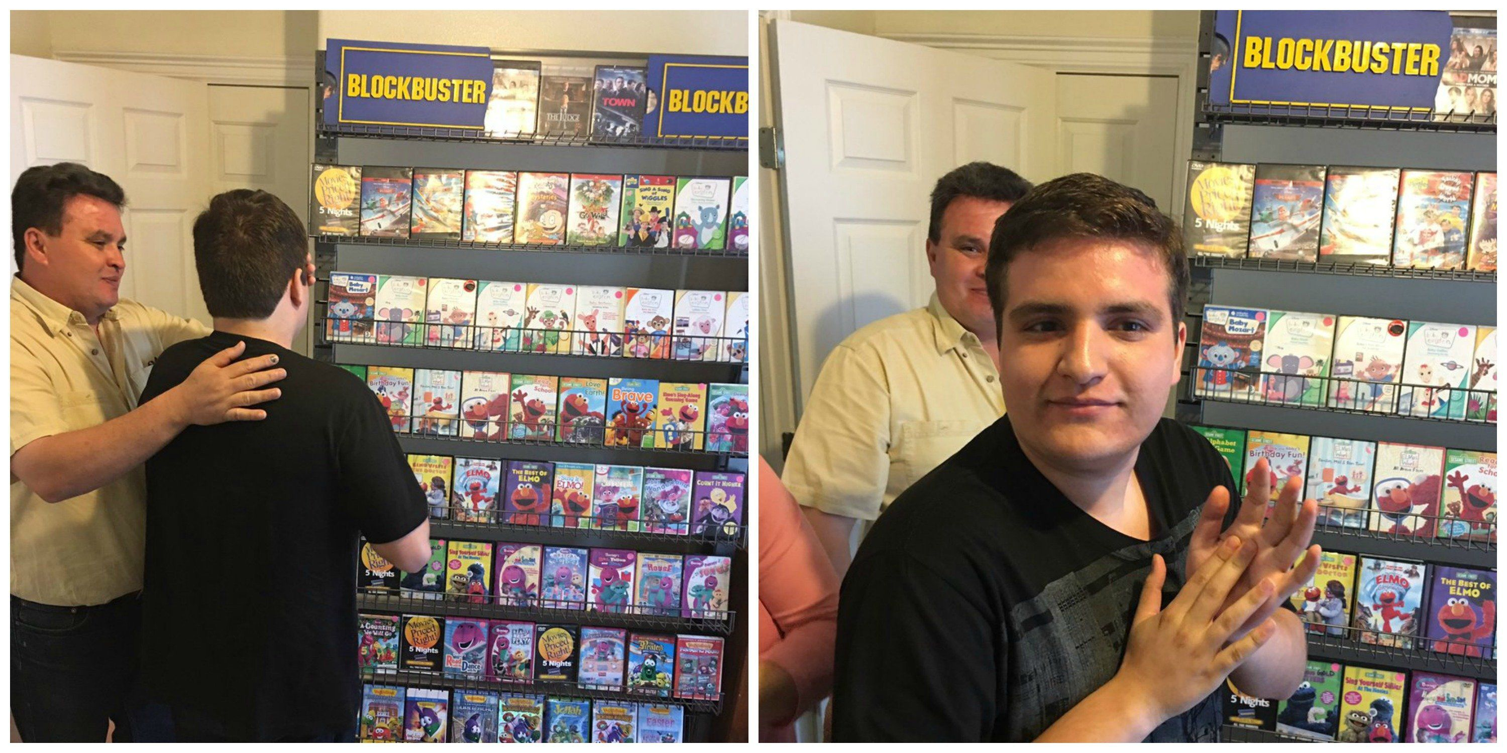 Hector's fatherreveals the at-home Blockbuster to his son.