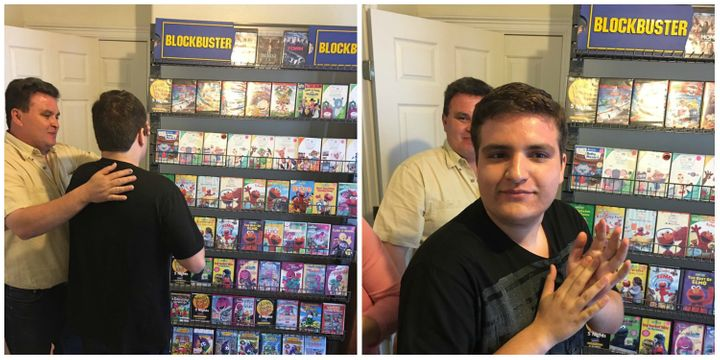 Parents recreate closed Blockbuster store for autistic son