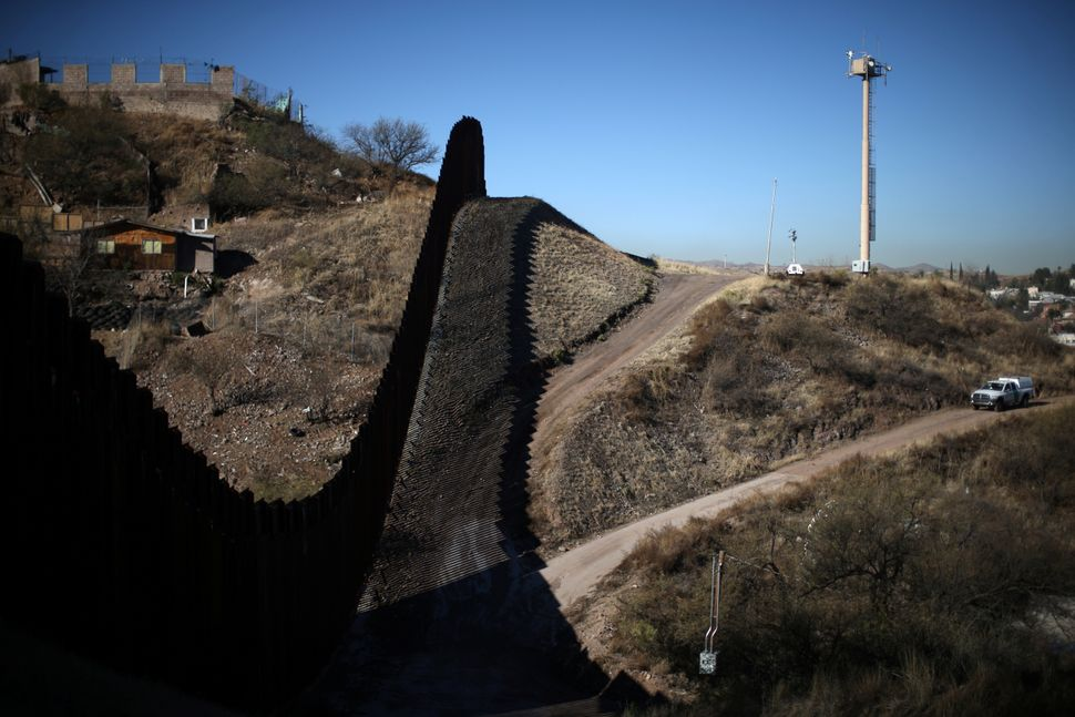A view ofthe U.S.-Mexico borderfrom Nogales, Arizona, on Jan. 31, 2017.