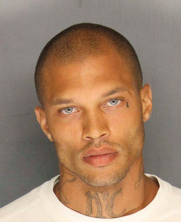 "Stockton Police Department photo shows Jeremy Meeks, 30, arrested on June 18, 2014 in a gang crackdown in a crime-ridden area of Stockton, California. The mugshot of Meeks, a convicted felon, went viral on a police Facebook page this week, making him an instant celebrity with Web users who have called him ""handsome"" and clicked ""like"" on his picture more than 64,000 times.  REUTERS/Stockton Police/Handout via Reuters  (UNITED STATES - Tags: CRIME LAW TPX IMAGES OF THE DAY)  ATTENTION EDITORS - THIS PICTURE WAS PROVIDED BY A THIRD PARTY. REUTERS IS UNABLE TO INDEPENDENTLY VERIFY THE AUTHENTICITY, CONTENT, LOCATION OR DATE OF THIS IMAGE. FOR EDITORIAL USE ONLY. NOT FOR SALE FOR MARKETING OR ADVERTISING CAMPAIGNS. THIS PICTURE IS DISTRIBUTED EXACTLY AS RECEIVED BY REUTERS, AS A SERVICE TO CLIENTS"
