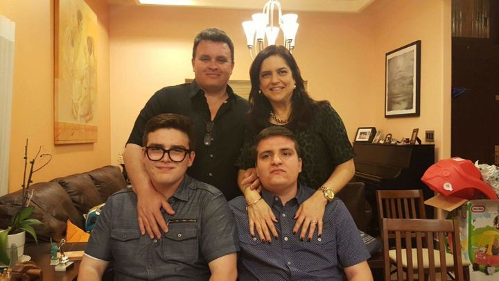 Hector and Rosa Zuniga above their sons, Javier and Hector Andres.