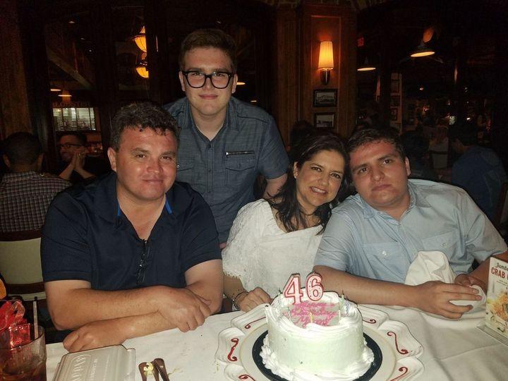 TheZuniga family celebrates a birthday.