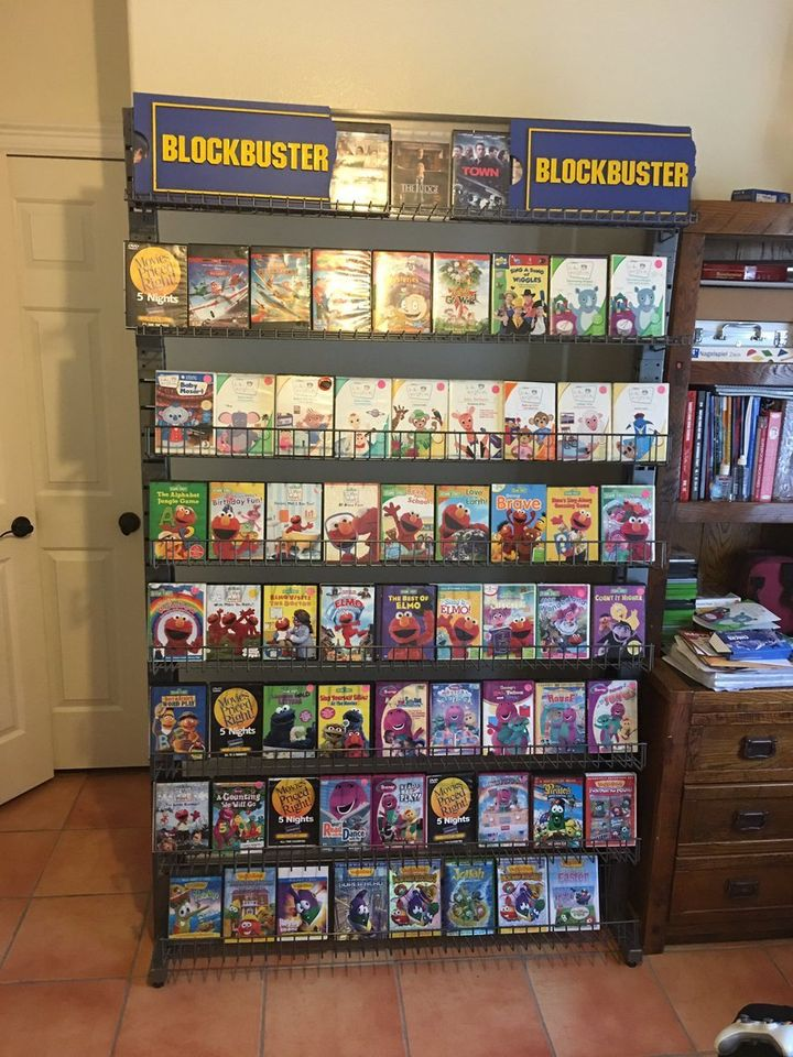 "The at-home Blockbuster ""store."""