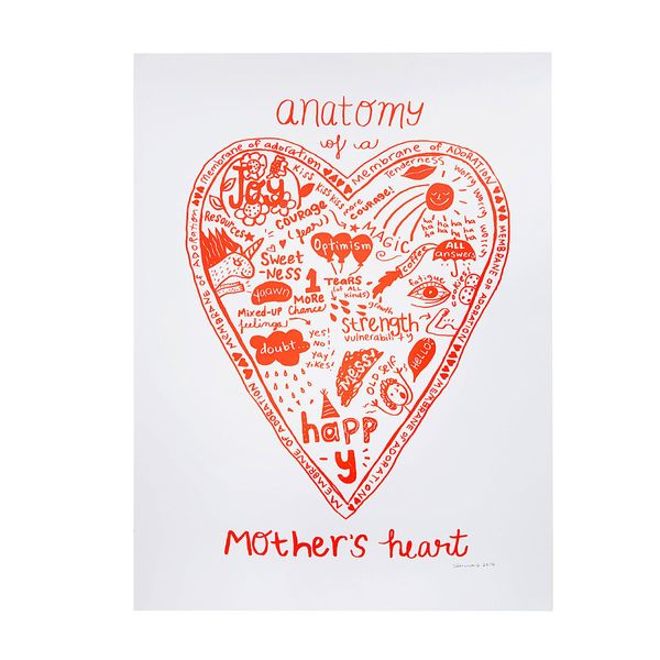"""<i>Buy it from<a href=""""http://www.uncommongoods.com/product/anatomy-of-a-mothers-heart-screen-print"""" target=""""_blank"""">Un"""