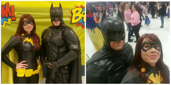James and Alisha Doherty love dressing up as Batman and Batgirl.