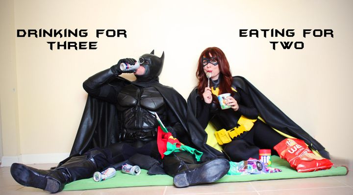 Even Batman and Batgirl have their vices.