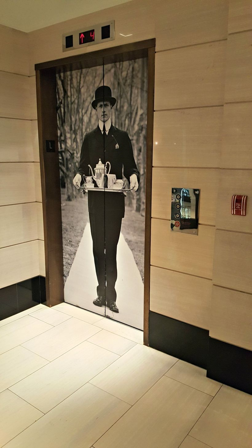 The elevator at The London Hotel, West Hollywood