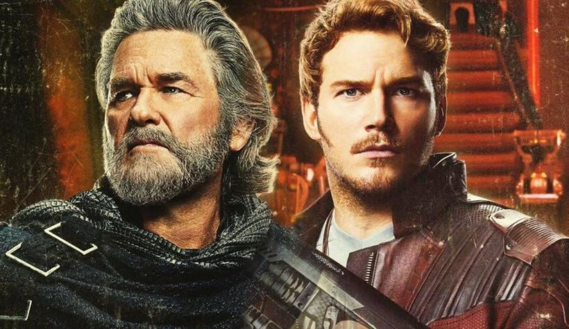Kurt Russell (Ego) plays the father to Peter Quill (Chris Pratt) in <em>Disney Marvel's Guardians of the Galaxy Vol. 2</em>