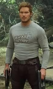 Movie Easter Egg: Chris Pratt (Star Lord) wears a tee-shirt with the label from his favorite candy.