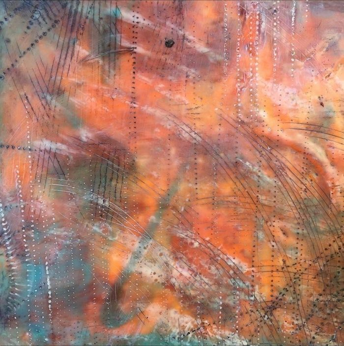 Mary Jo Reutterfeatures her encaustics collection.