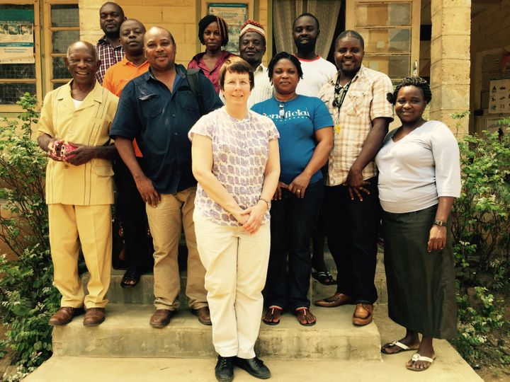 <em>Dr Murdoch and some of the team who participated in the week-long training workshop</em>