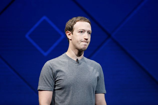 Founder and CEO Mark Zuckerberg speaks on stage during the annual Facebook F8 developers conference in...