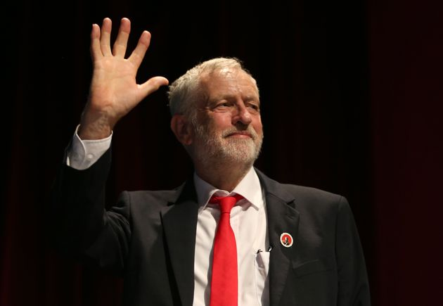 Labour leader Jeremy Corbyn addresses the STUC conference in Aviemore during the