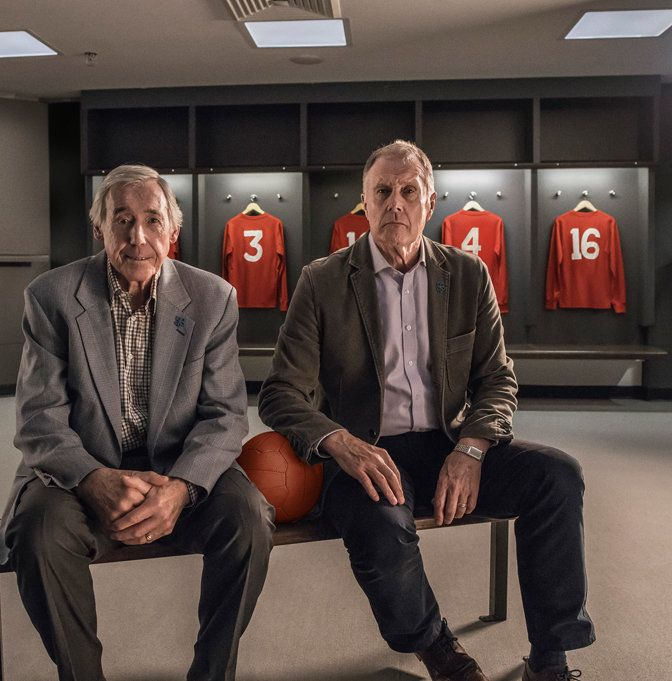 Left to right: Gordon Banks OBE and Sir Geoff Hurst