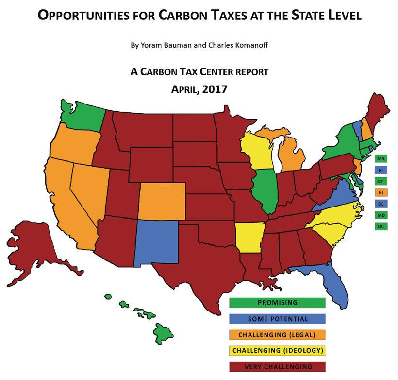 Our report identifies states with the brightest carbon tax prospects.