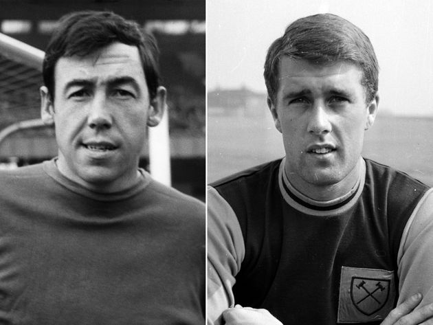 Left to right: a young Gordon Banks and Geoff