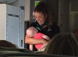 Mum Thanks Flight Attendant Who Took Her Baby When 'All Hell Broke Loose'