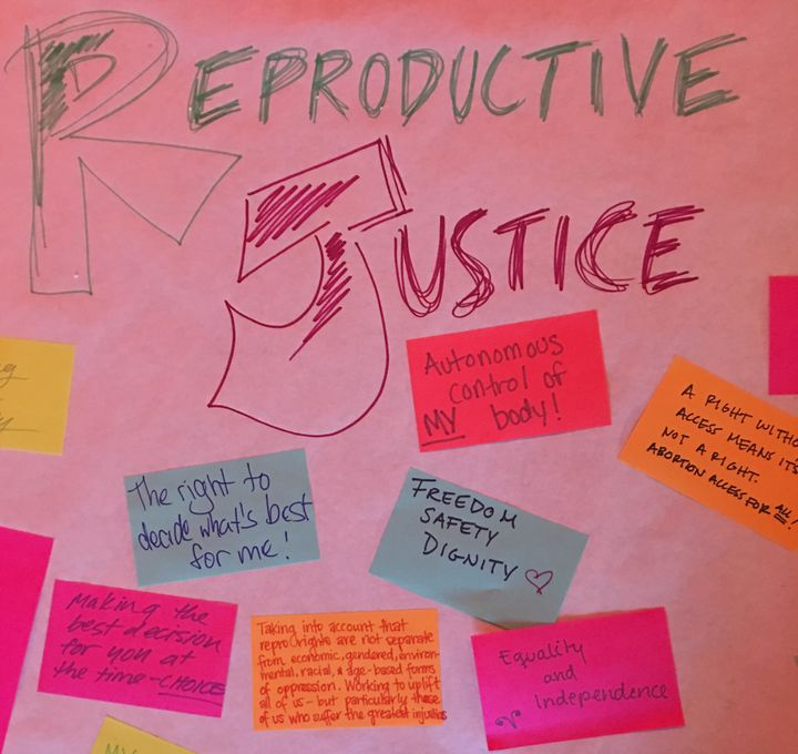 """The New York Abortion Access Fund asked bowlers, """"What does reproductive justice mean to you?"""""""