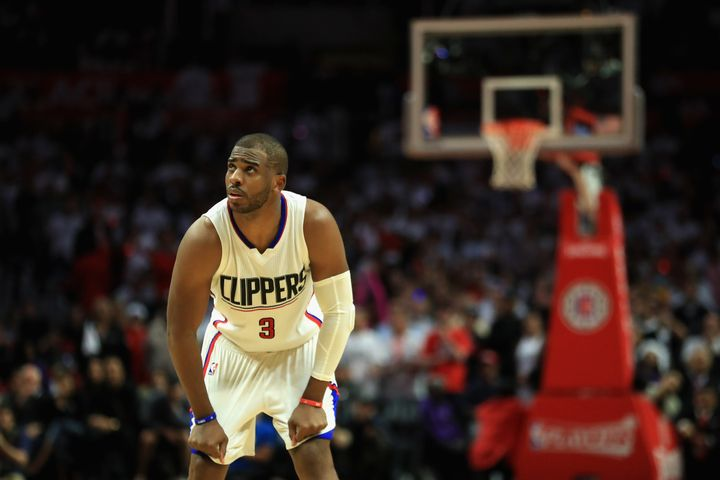 Chris Paul, pictured during the Clippers' loss to the Utah Jazz on Tuesday, swatted away a scribe's ill-worded question.