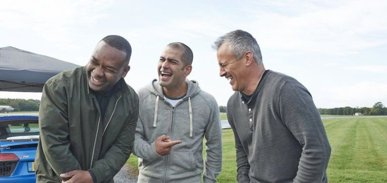 Smiles all round for Matt LeBlanc and co, as they're welcomed back by the