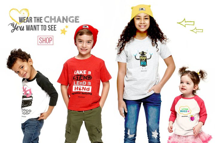 A children's clothing line is encouraging kids to develop a social awareness that leads to action.
